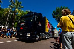 Red Bull Racing Australia transporter during the parade