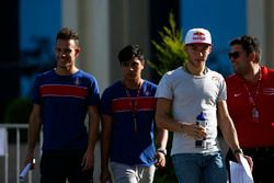 Pierre Gasly, PREMA, Racing; Luca Ghiotto, Trident; Philo Paz Armand, Trident