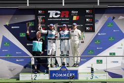 Podium: Winner Jean-Karl Vernay, Leopard Racing, Volkswagen Golf GTI TCR; second place Stefano Comini, Leopard Racing, Volkswagen Golf GTI TCR; third place Antti Buri, Leopard Racing, Volkswagen Golf GTI TCR
