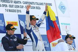 Race 1 podium: winner Mauricio Baiz, Mücke Motorsport, second place Joao Ricardo Vieira Queiroz, Antonelli Motorsport, third place Simone Cunati, Vincenzo Sospiri Racing