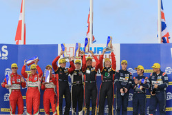 LMGTE podium: winners Rory Butcher, Robert Smith, Andrea Bertolini, JMW Motorsport, second place Joh
