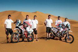 CS Santosh, Hero MotoSports Team Rally y Joaquim Rodrigues, Hero MotoSports Team Rally con el equipo