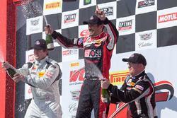 TC Race 1 podium: Nick Wittmer, Toby Grahovec, Dennis Hanratty