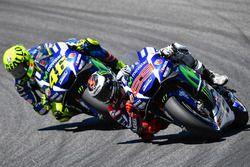 Jorge Lorenzo, Yamaha Factory Racing, und Valentino Rossi, Yamaha Factory Racing