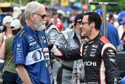 Helio Castroneves, Team Penske Chevrolet, David Letterman