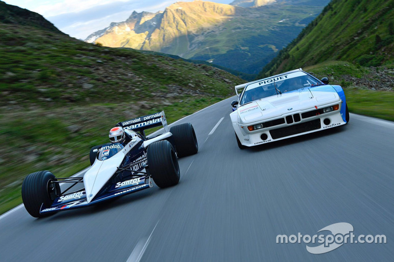 8. Nelson Piquet Jr. drives in his father's Brabham BMW F1