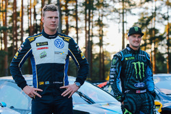Johan Kristoffersson, Volkswagen Team Sweden, Andreas Bakkerud, Hoonigan Racing Division Ford
