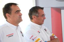 Didier Marsaud, directeur des communications chez Nissan Canada, et Joni Paiva, président de Nissan Canada