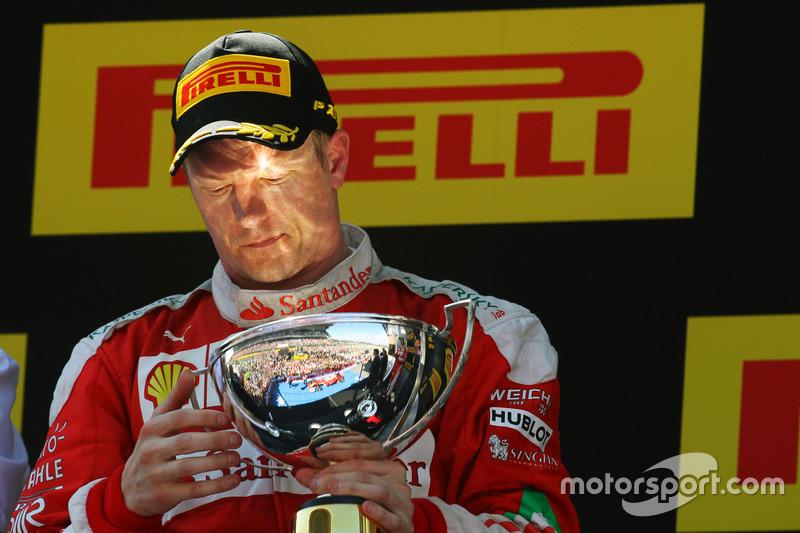 """#2: """"Iceman"""" Kimi Raikkonen """"feiert"""" Platz zwei"""