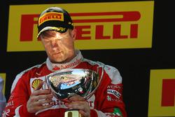 Kimi Raikkonen, Ferrari fête sa deuxième place sur le podium