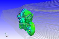 Rendu informatique (CFD) des ailerons, Ducati Team