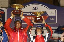 I vincitori Luca Pedersoli e Anna Tomasi, Citroen C4 WRC