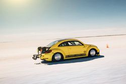 Preston Lerner makes a land speed record attempt in the VW Beetle LSR at Bonneville