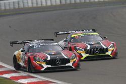 #89 AKKA ASP, Mercedes-AMG GT3: Laurent Cazenave, Daniele Perfetti, Michael Lyons; #87 AKKA ASP, Mer