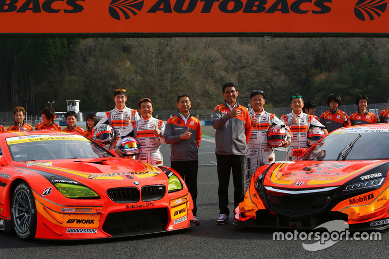 #8 Autobacs Racing Team Aguri Honda NSX Concept GT: Kosuke Matsuura, Tomoki Nojiri and #55 Autobacs