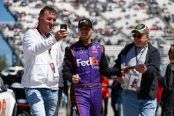Denny Hamlin, Joe Gibbs Racing Toyota signing autographs