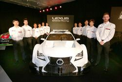 Lexus Super GT RC F with the drivers