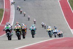 Enea Bastianini, Gresini Racing Moto3, Honda; Jakub Kornfeil, Drive M7 SIC Racing Team, Honda