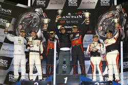 Podium Pro Am: Sieger Michal Broniszewski Giacomo Piccini; 2. Matias Henkola, Maxime Martin, 3. Jean