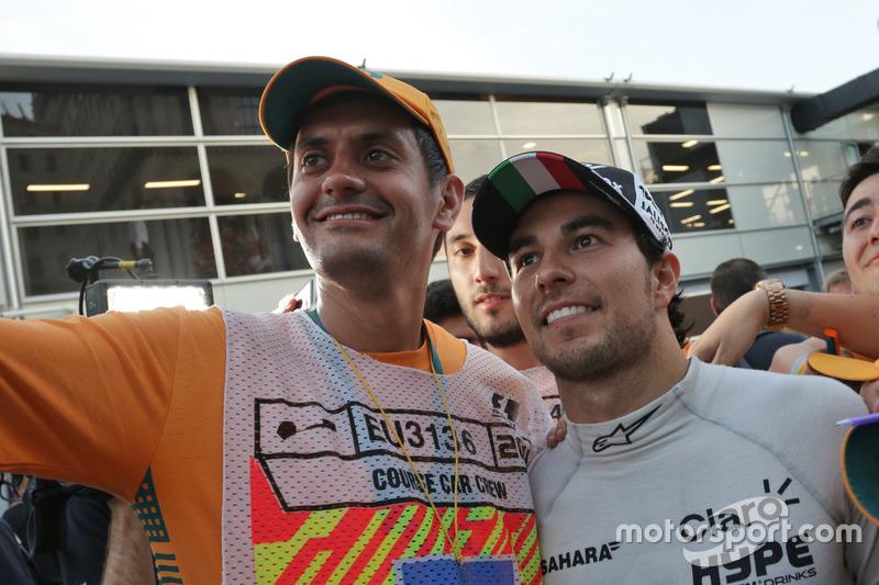 Sergio Pérez, Sahara Force India F1 con mariscales