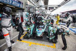 Pit stop for #23 Panis Barthez Competition Ligier JS P2 Nissan: Fabien Barthez, Timothé Buret, Paul-Loup Chatin