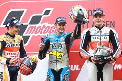 Podium: winner Jack Miller, Marc VDS Racing Honda, second place Marc Marquez, Repsol Honda Team, third place Scott Redding, Pramac Racing