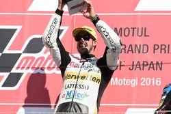 Podium: race winnaar Thomas Lüthi, Interwetten