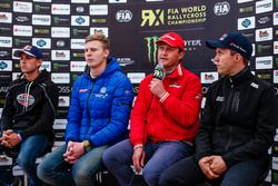 Niclas Grönholm, Olsbergs MSE; Johan Kristoffersson, Volkswagen Team Sweden; Gigi Galli, Kia; Mattia