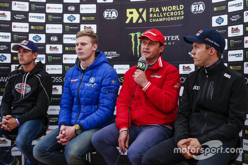 Никлас Гронхольм, Olsbergs MSE; Йохан Кристофферссон, Volkswagen Team Sweden; Джиджи Галли, Kia; Маттиас Экстрём, EKS RX