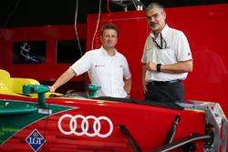 Allan McNish y Dieter Gass, Audi Sport