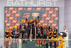 Podium: winners Will Davison, Jonathon Webb, Tekno Autosports Holden, second place Shane van Gisberg