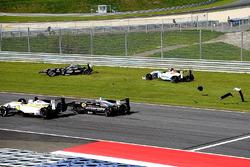 Daniil Pronenko, BVM Racing and Antoni Ptak, RP Motorsport crash