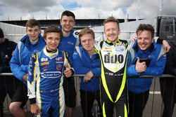 Winner Lando Norris, Carlin and second place Ricky Collard, Carlin