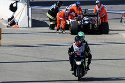 Nico Hulkenberg, Sahara Force India F1, contraint à l'abandon au départ