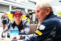 Dr Helmut Marko, Consultant Red Bull Racing et Max Verstappen, Scuderia Toro Rosso