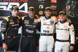 Top 4 on qualifying: Pole position #86 AMG-Team HTP Motorsport, Mercedes-AMG GT3: Maximilian Götz; s