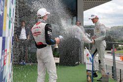 Podium, Joel Eriksson, Motopark, Dallara F312 – Volkswagen; George Russell, HitechGP, Dallara F312 -