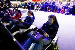 Jordan King, Racing Engineering and Gustav Malja, Rapax in the F1 Gamezone