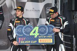 Podium : Silver Cup, les vainqueurs #19 GRT Grasser Racing Team Lamborghini Huracan GT3: Luca Stolz, Michele Beretta