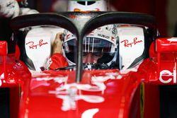 Sebastian Vettel, Ferrari SF16-H avec le Halo 2