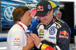 Jost Capito, Volkswagen Motorsport Director and Jari-Matti Latvala, Volkswagen Polo WRC, Volkswagen