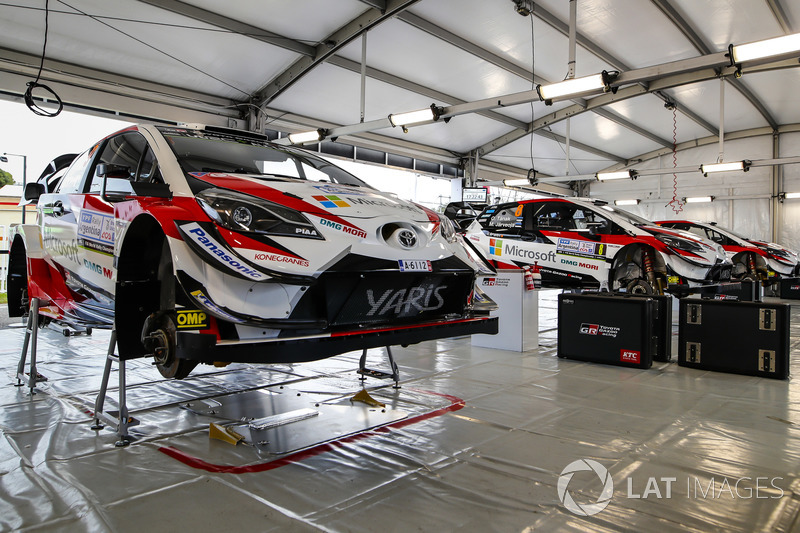 Toyota Gazoo Racing team area