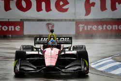 Robert Wickens, Schmidt Peterson Motorsports Honda en qualifications sous la pluie