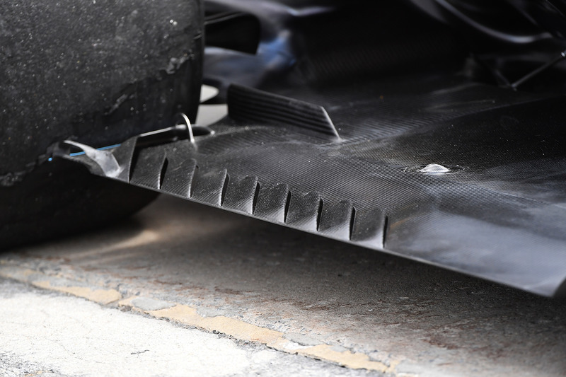 Mercedes-AMG F1 W09 rear floor detail