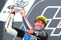 Sur le podium : le deuxième Marco Bezzecchi, Prustel GP