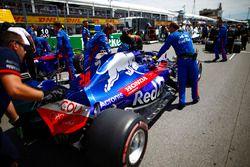 Brendon Hartley, Toro Rosso, en la parrilla