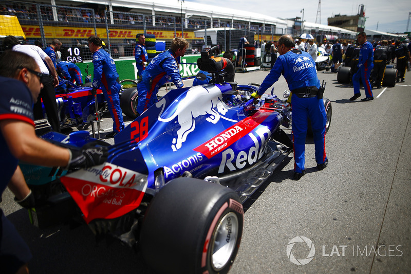 Brendon Hartley, Toro Rosso, arriva in griglia