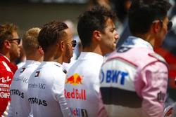 Valtteri Bottas, Mercedes AMG F1, Lewis Hamilton, Mercedes AMG F1, Daniel Ricciardo, Red Bull Racing
