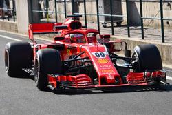 Antonio Giovinazzi, Ferrari SF71H . Mark Sutton