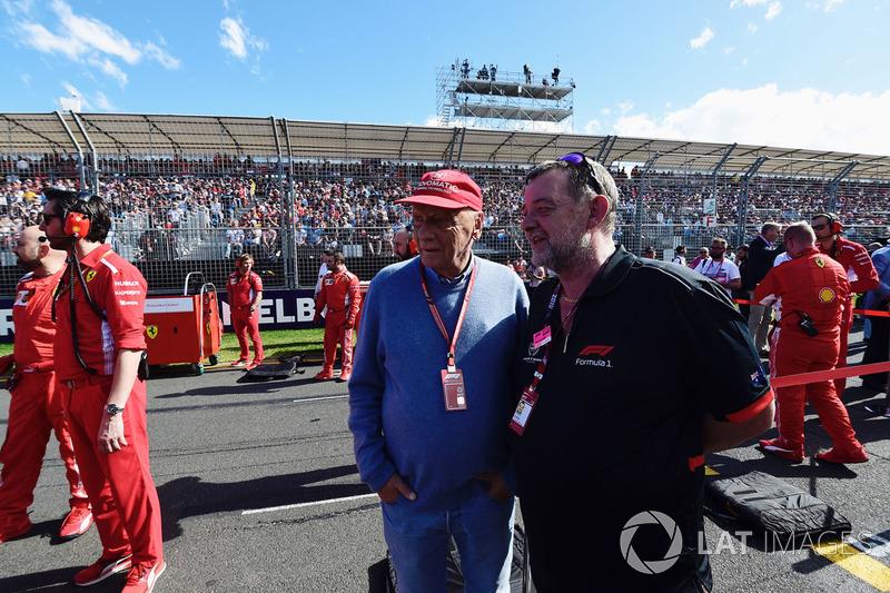 Niki Lauda, Presidente non esecutivo Mercedes AMG F1 e Paul Stoddart, in griglia